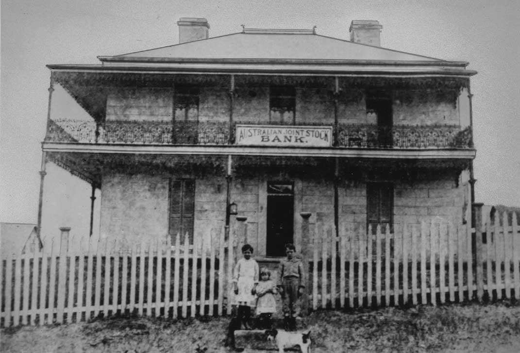 Monochrome photo of Grandview, Pymble, when it was Australian Joint Stock Bank 1888-94
