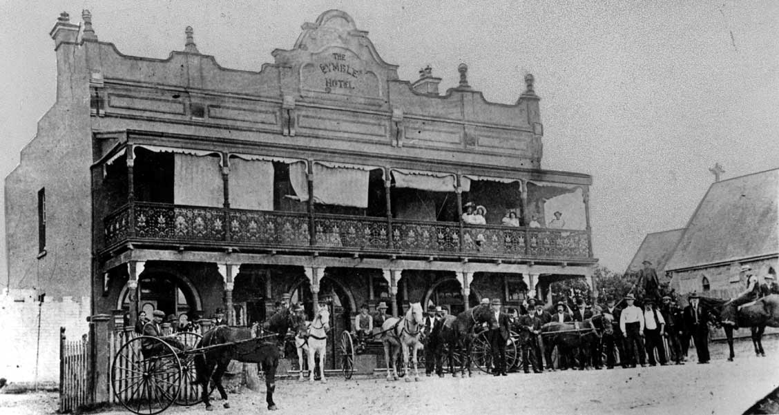 Monochrome photo of the Gardeners' Arms Hotel, 1901 (later Pymble Hotel)