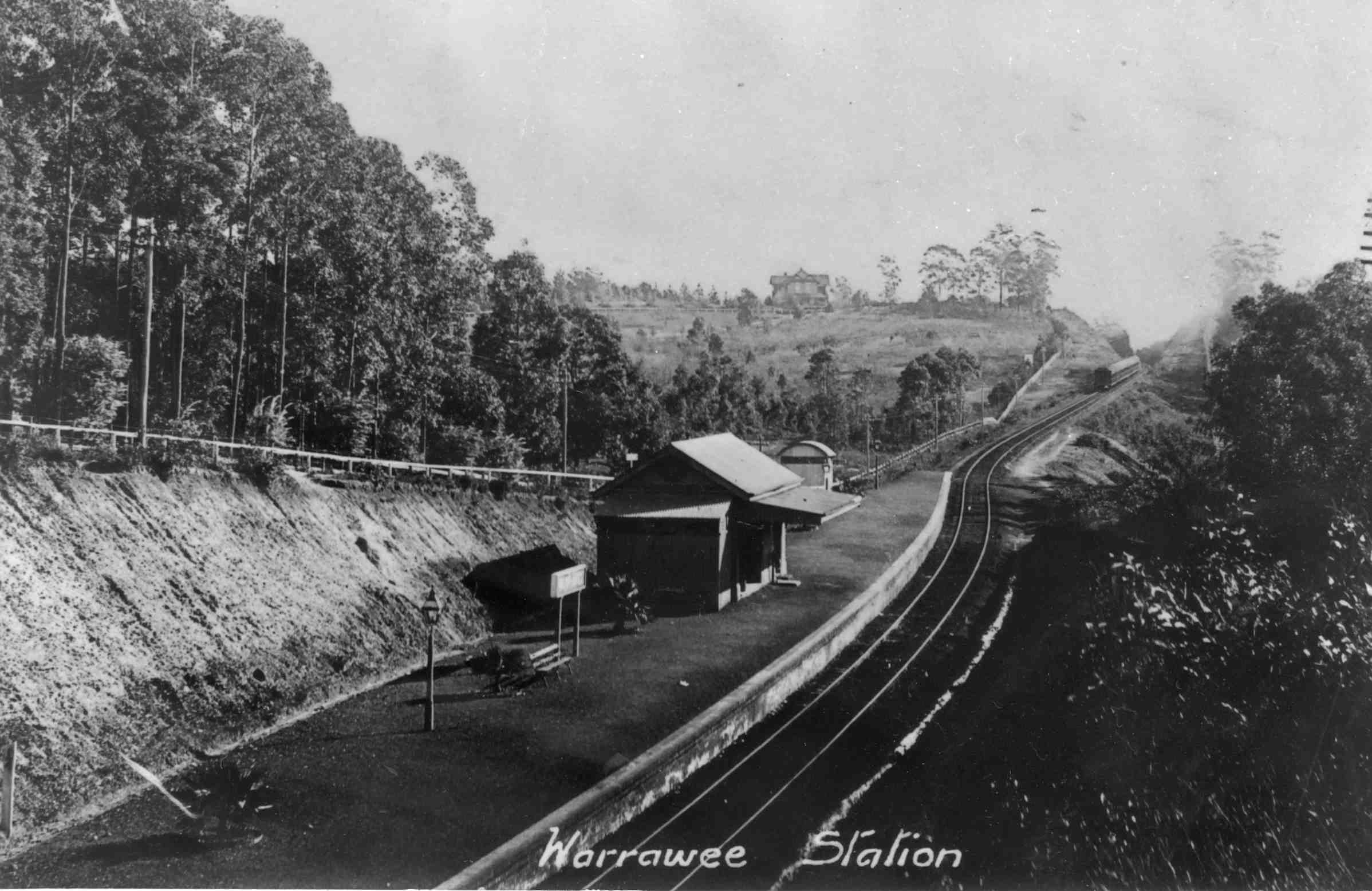 Warrawee Railway Station before line duplication c1905