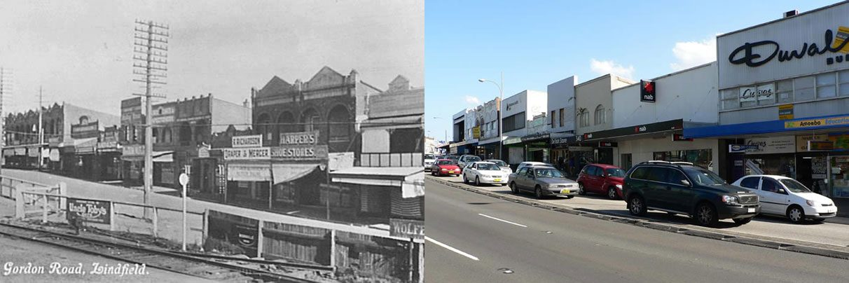 Pacific Hwy Lindfield, c.1920 & 2007