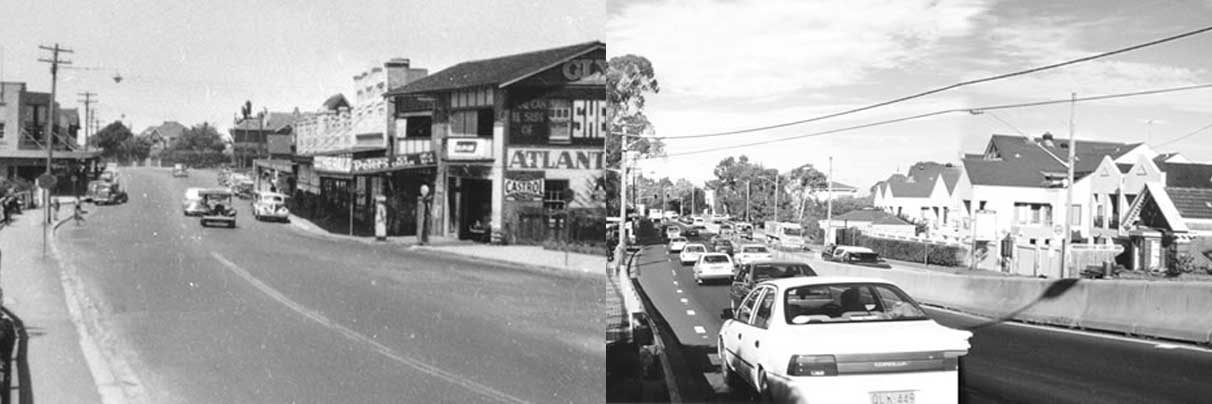 Pacific Hwy Pymble, c.1950 & 2001