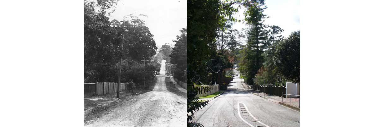 Warrawee Ave, c.1910 & 2008